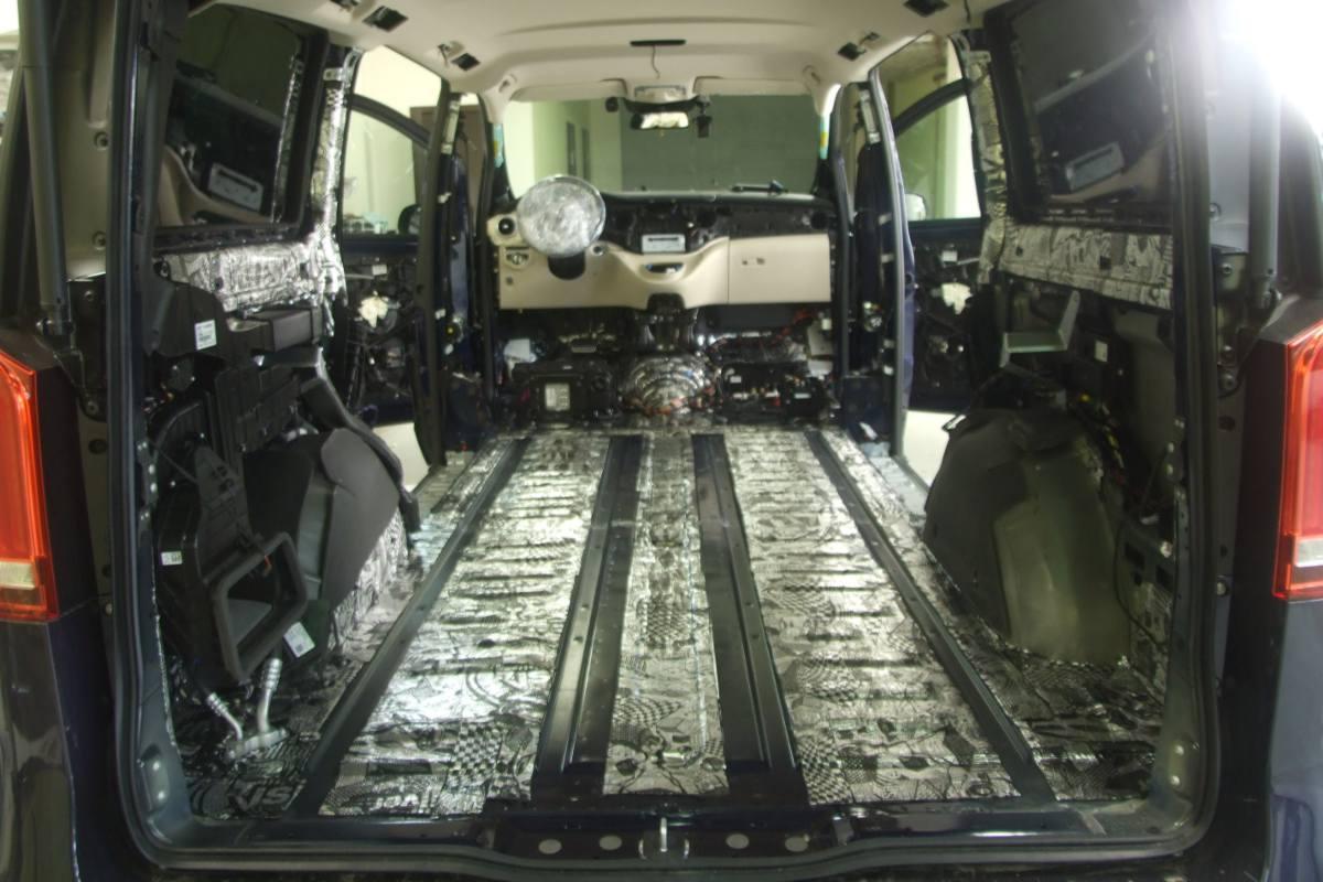 шумоизоляция Mercedes V-Class
